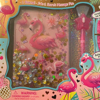 HOT FOCUS SECRET MESSAGE JOURNAL FLAMINGO