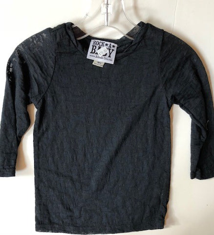 Black Burnout Shirt