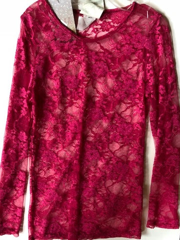 Hot Pink Lace Shirt