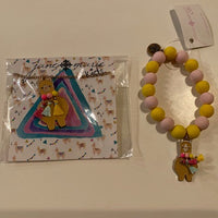 BROWN LLAMA NECKLACE AND BRACELET