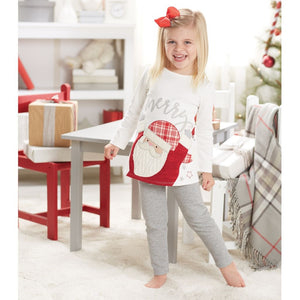 Christmas Baby Girl Santa Tunic & Legging