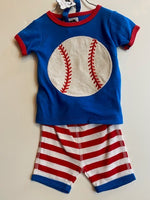 BASEBALL OUFIT - 2 PIECE WITH BASEBALL ON BACK OF BOTTOM