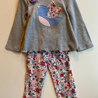 FLORAL TUNIC AND LEGGINGS