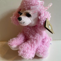 Pink Poodle with lashes