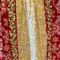 Dress and pants - Red top with snowflake pattern