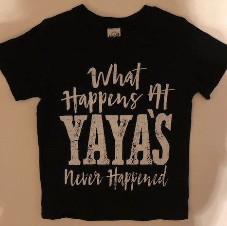 What Happens at Yaya's - Never Happened