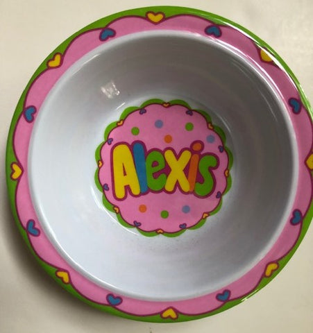 Alexis Personalized Bowl