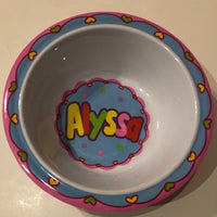 Alyssa Personalized Bowl