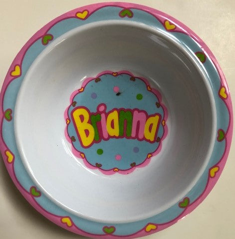 Brianna Personlized Bowl