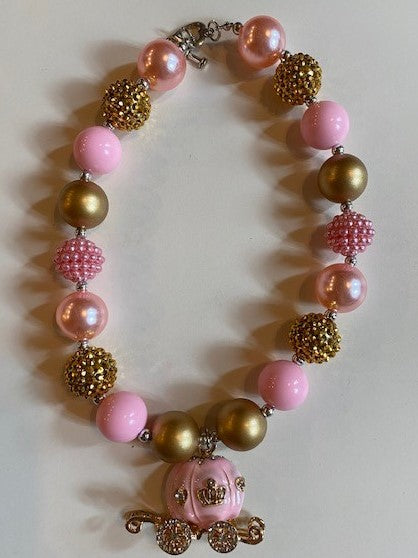 Pink Carriage Necklace