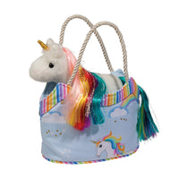 Rainbow Sky Sassy Sak with Unicorn