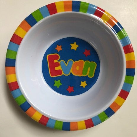 Evan Personalized Bowl