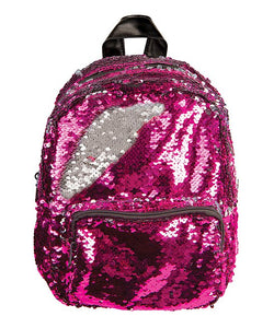Pink/Silver Magic Sequin Mini Backpack