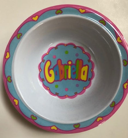 Gabriella Personalized Bowl