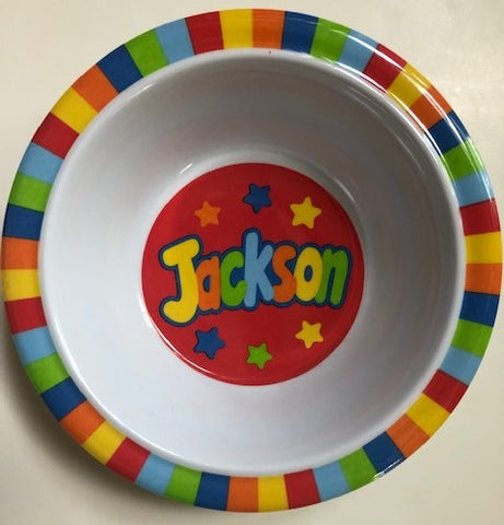 Jackson Personalized Bowl