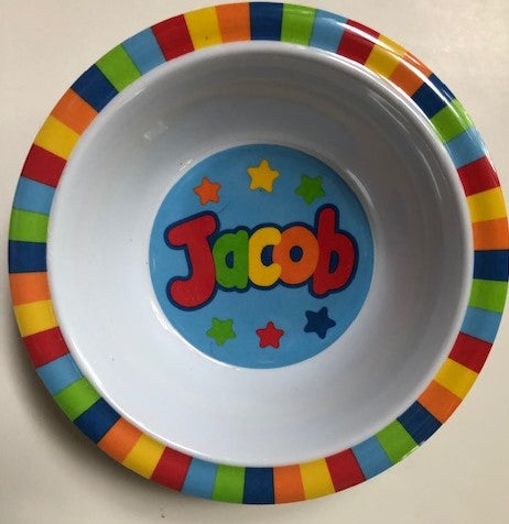 Jacob Personalized Bowl