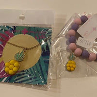 PINEAPPLE NECKLACE AND BRACELET