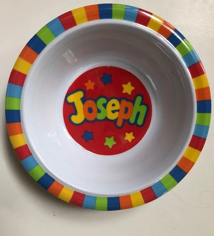 Joseph Personalized Bowl