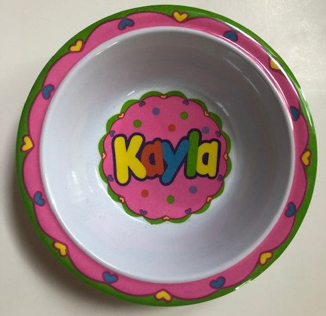 Kayla Personalized Bowl