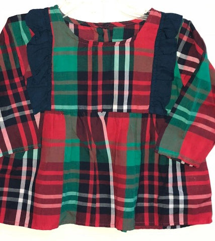 Ruffle Butts Kennedy Plaid Flutter Tunic