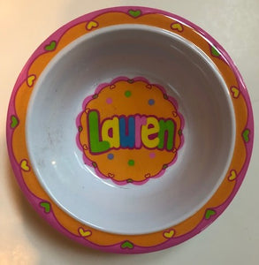 Lauren Personalized Bowl