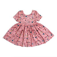 Pink Fairytale Short Sleeve Twirl Dress