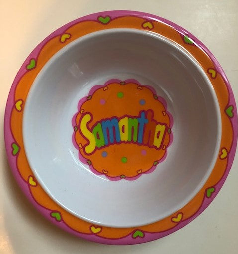 Samantha Personalized Bowl