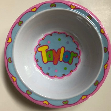 Taylor Personalized Bowl