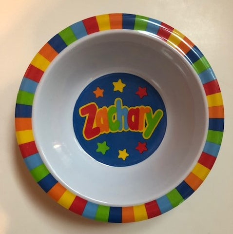 Zachary Personalized Bowl