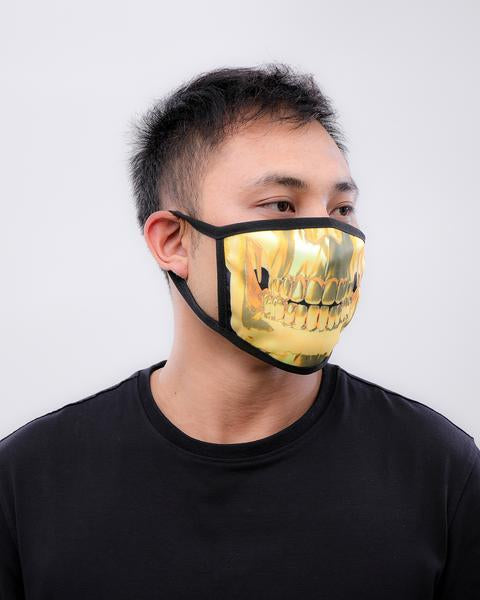 Gold Teeth Face Mask