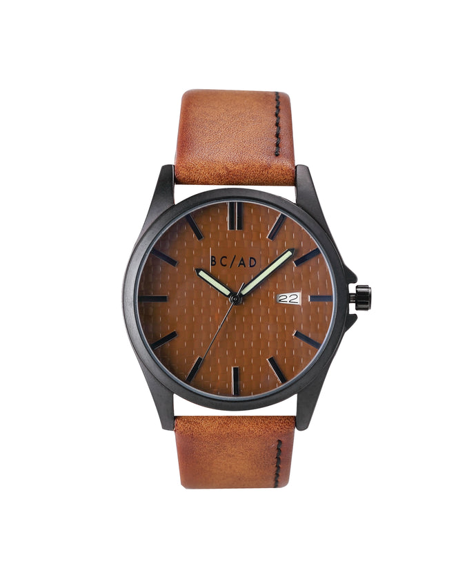 The 0881057 Watch - Color: Brown/Black | Brown