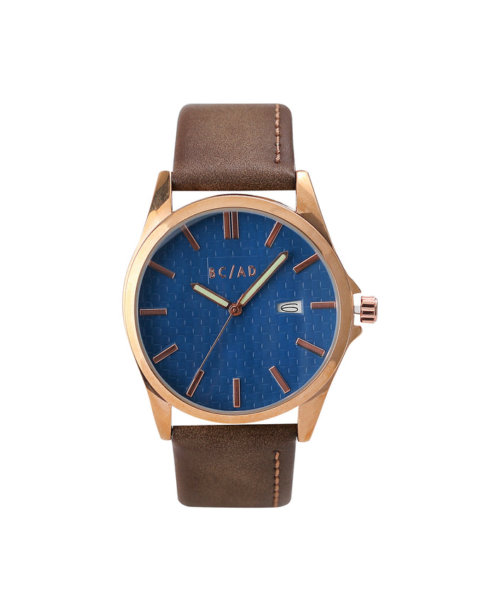 The 0881057 Watch - Color: Brown/Navy | Brown