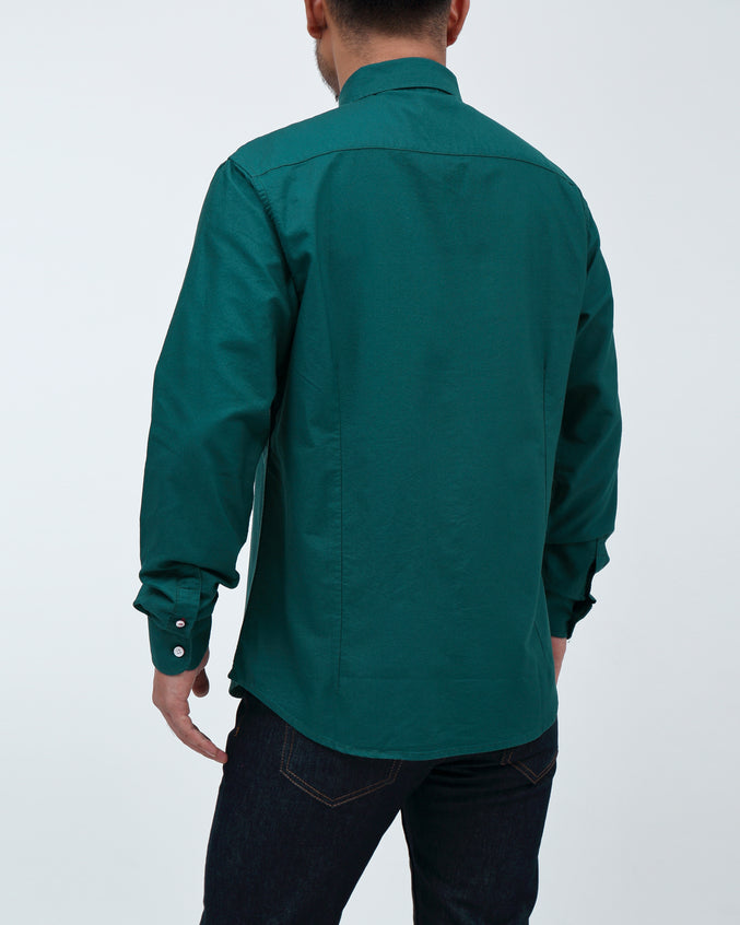 Solid Long Sleeve Shirt - Color: Emerald | Green