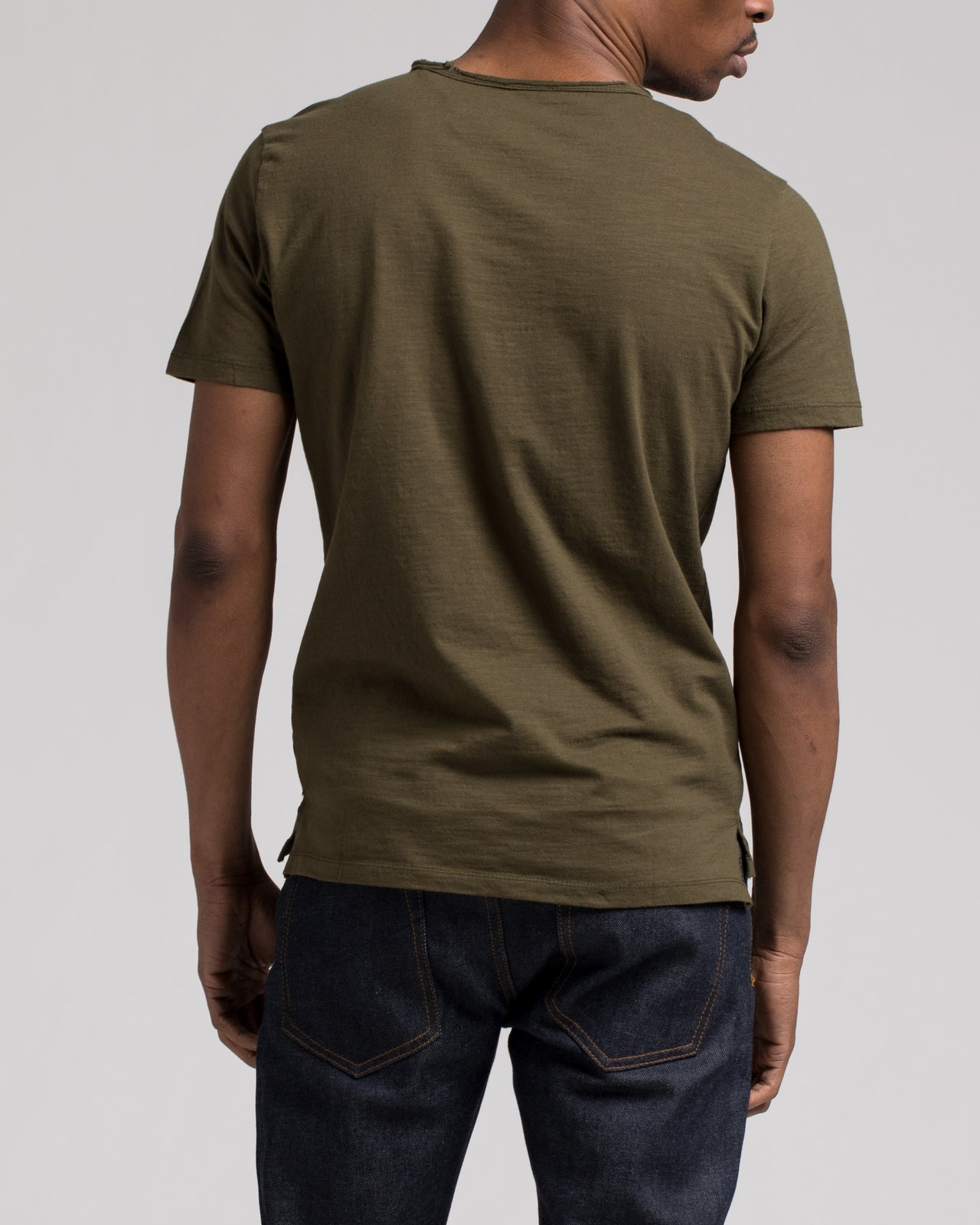 Roll Neck Tee - Color: Olive | Green