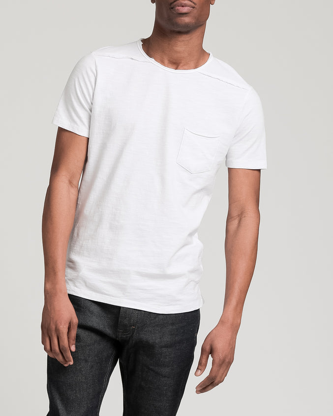 Roll Neck Tee - Color: White | White