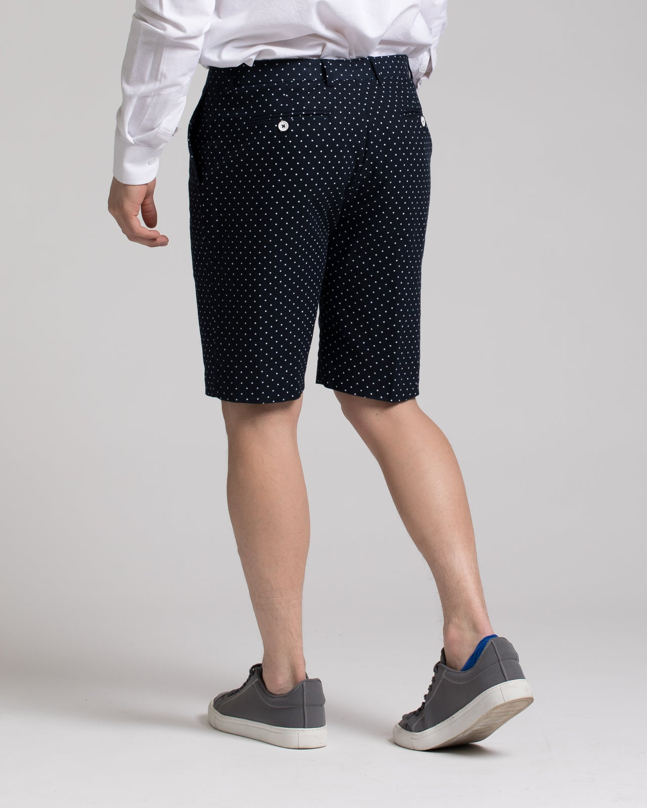 Fairview Shorts - Color: Navy & White Polkadot | Blue