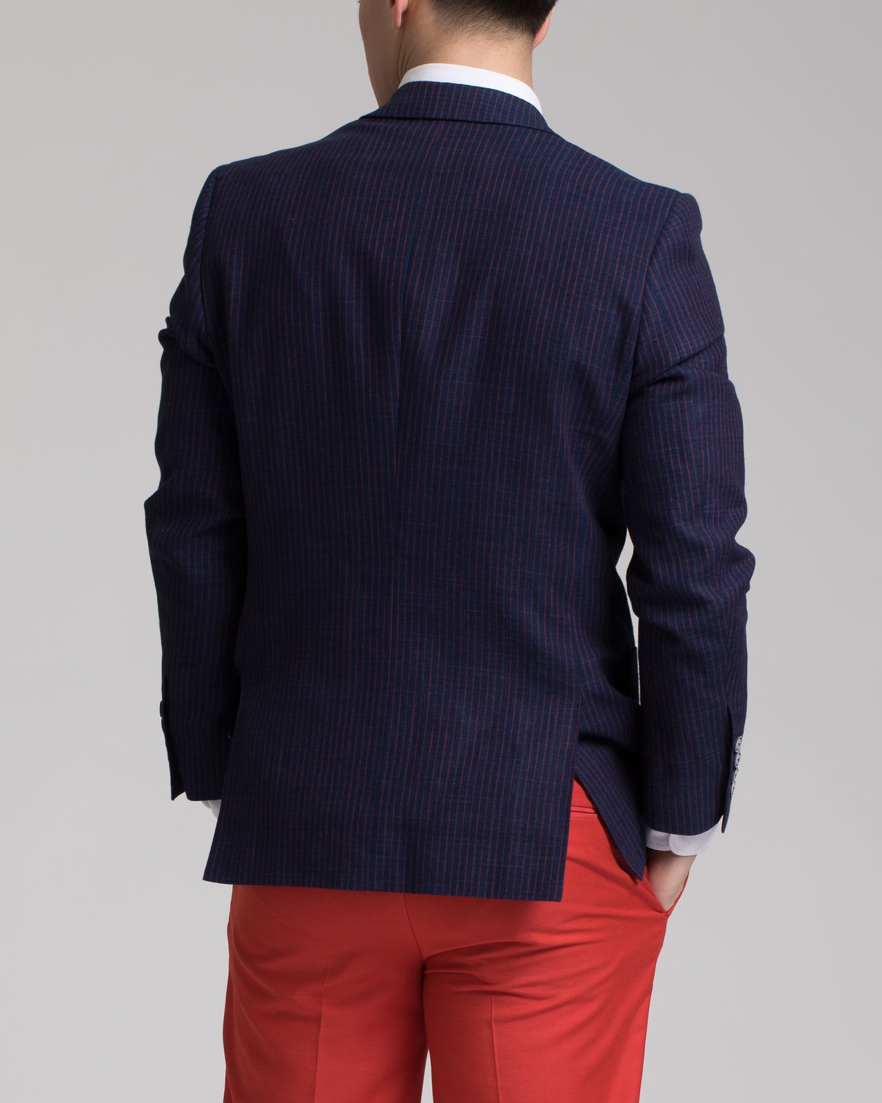 Dover Notch Jacket - Color: Navy & Red Stripe | Blue