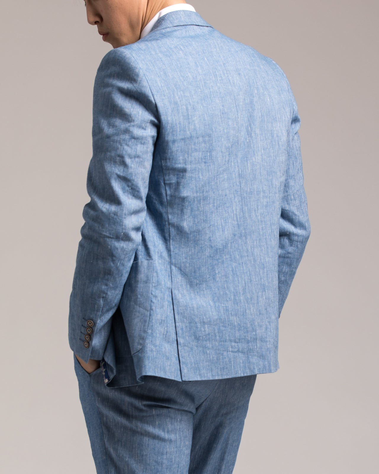 Dover Notch Jacket - Color: Light Blue Chambray | Blue