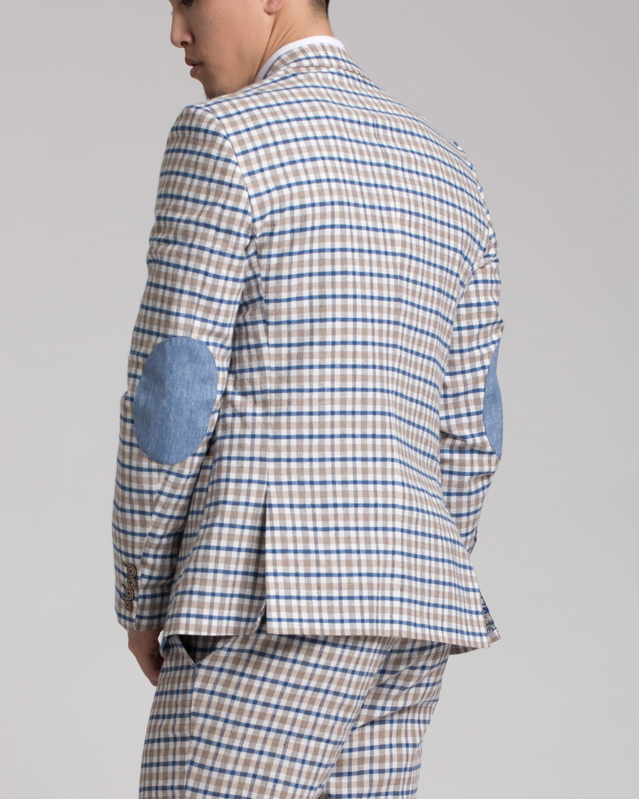 Ashton Peak Jacket - Color: Tan & Blue Plaid | Beige