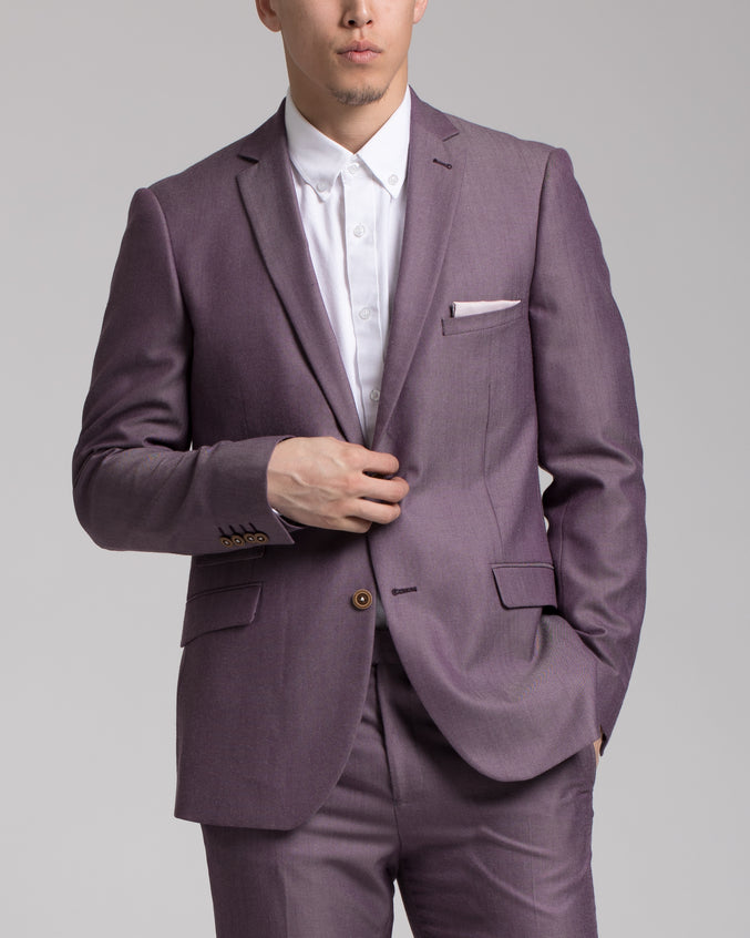 Dover Notch Jacket - Color: Violet Chambray | Purple