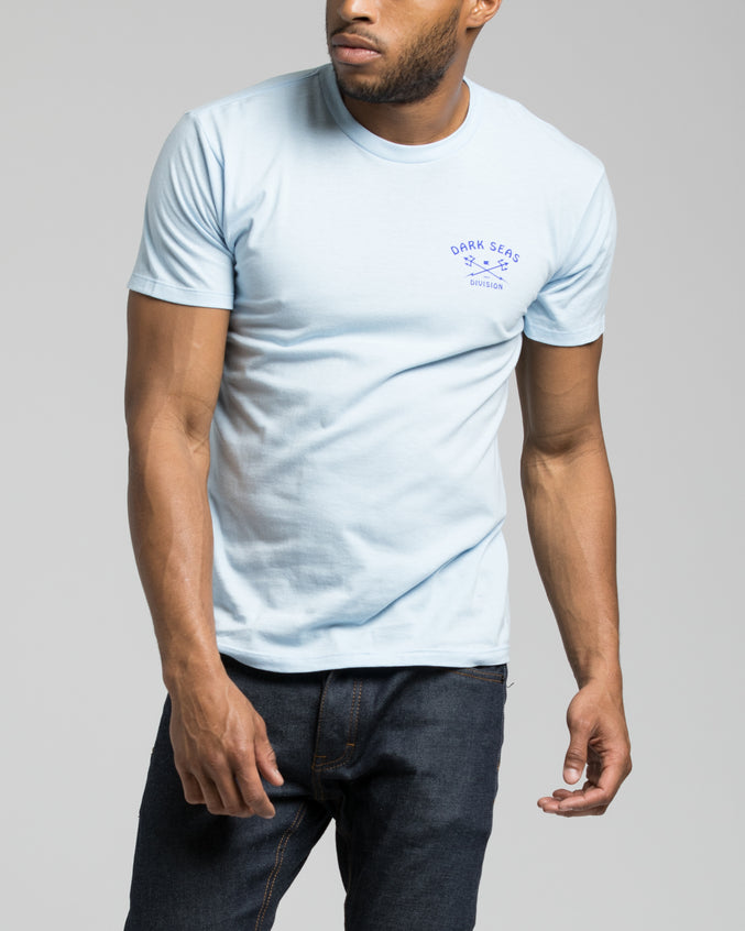 Sun Up Tee - Color: Powder Blue | Blue