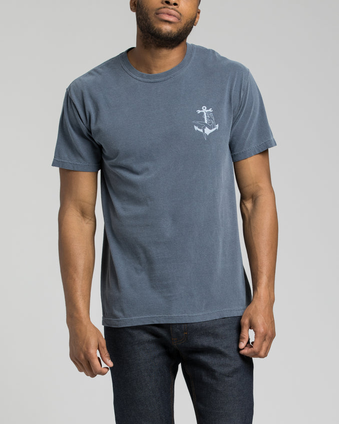 Bon Voyage Pigment Tee - Color: Denim | Blue