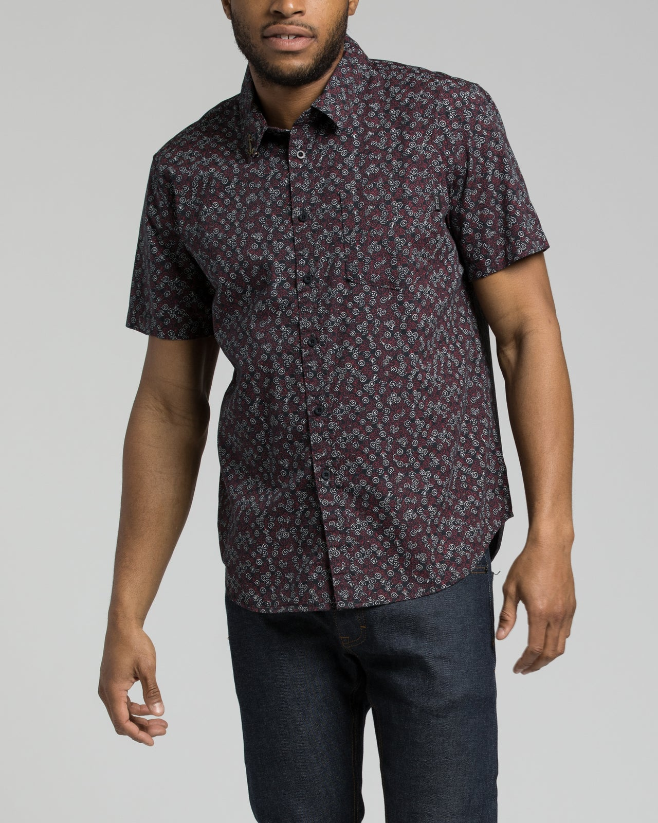 Lester SS Shirt - Color: Dark Navy | Blue