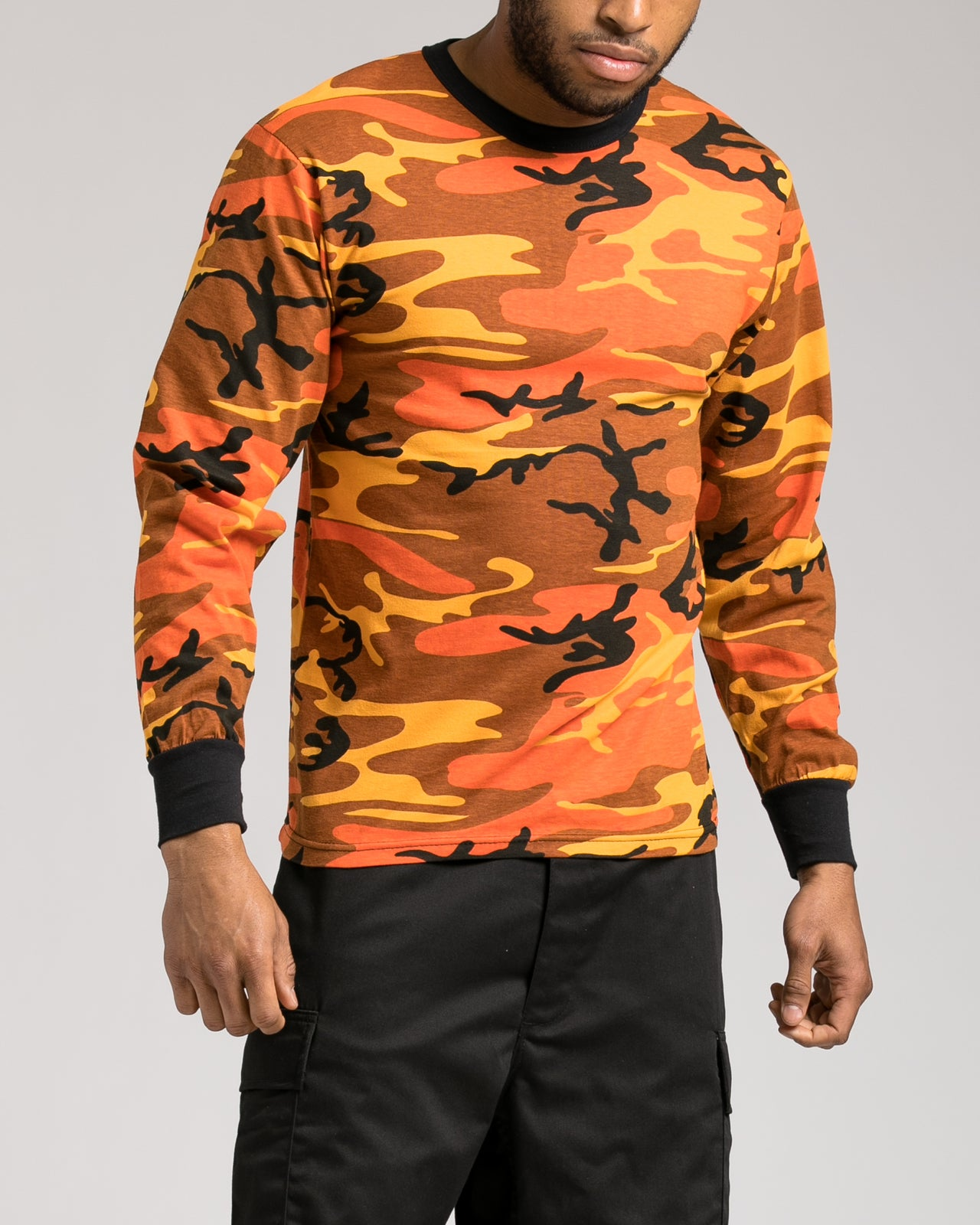 Color Camo Long Sleeve Tee - Color: Savage Orange Camo | Orange