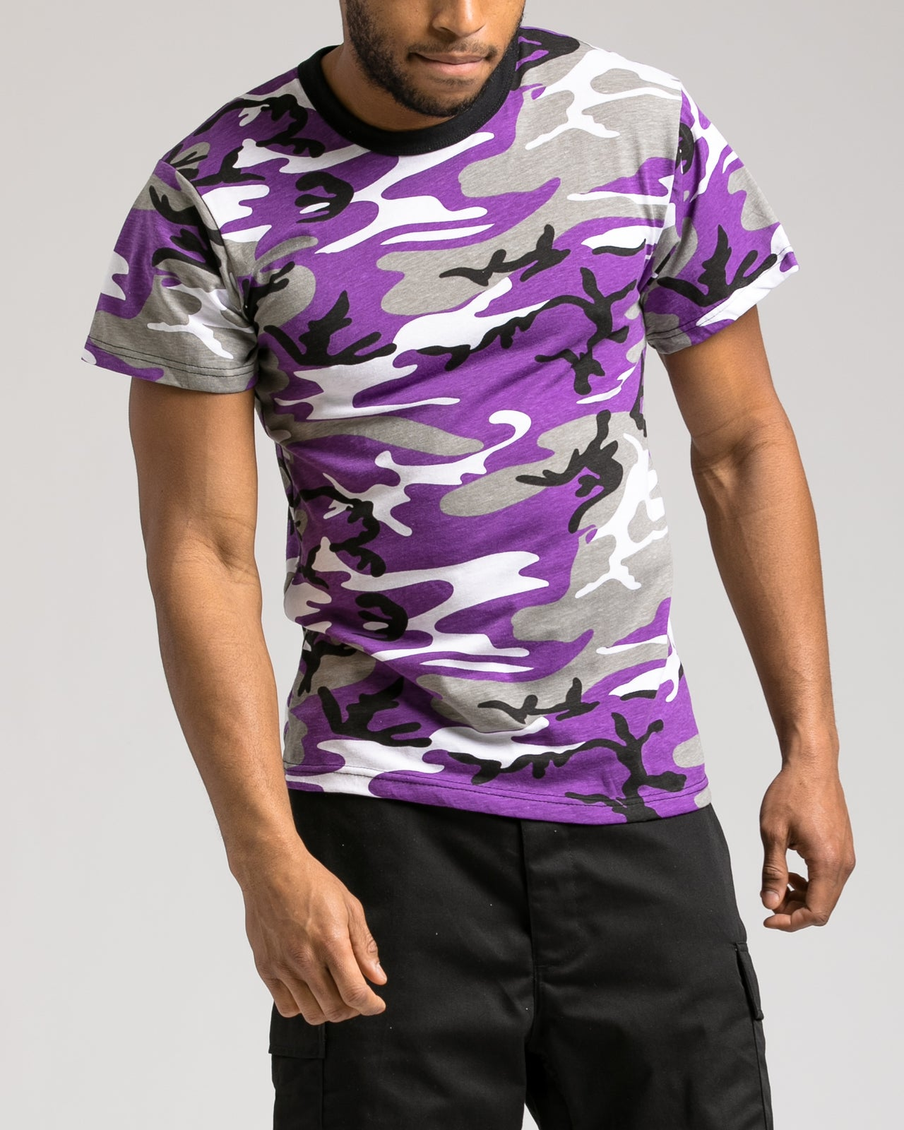 Camo Tee - Color: Ultra Violet Camo | Purple