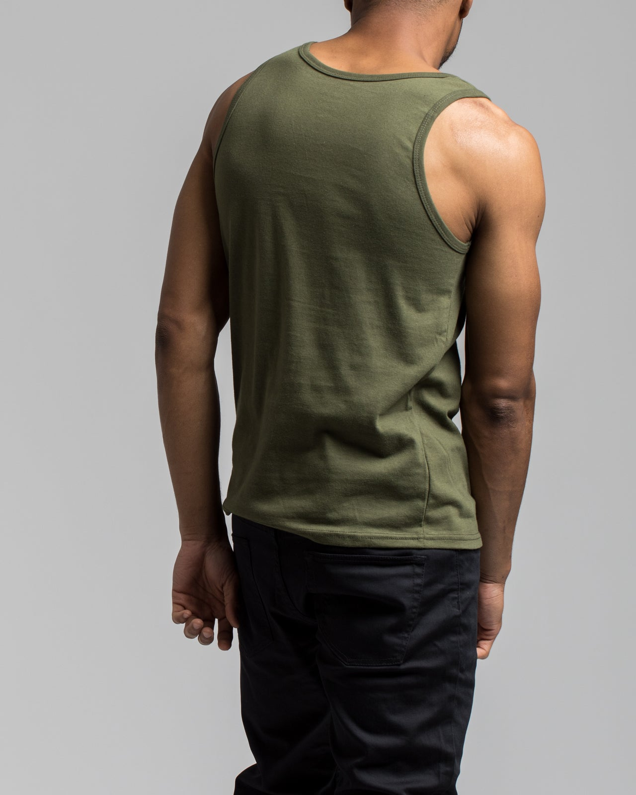 Basic Tank Top - Color: Olive Drab | Green