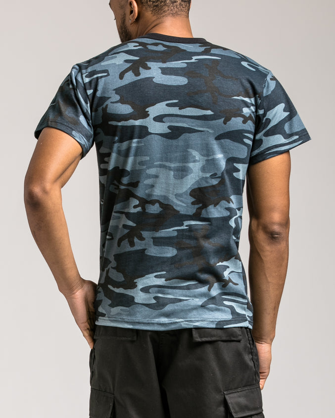 Camo Tee - Color: Sky Blue Camo | Blue
