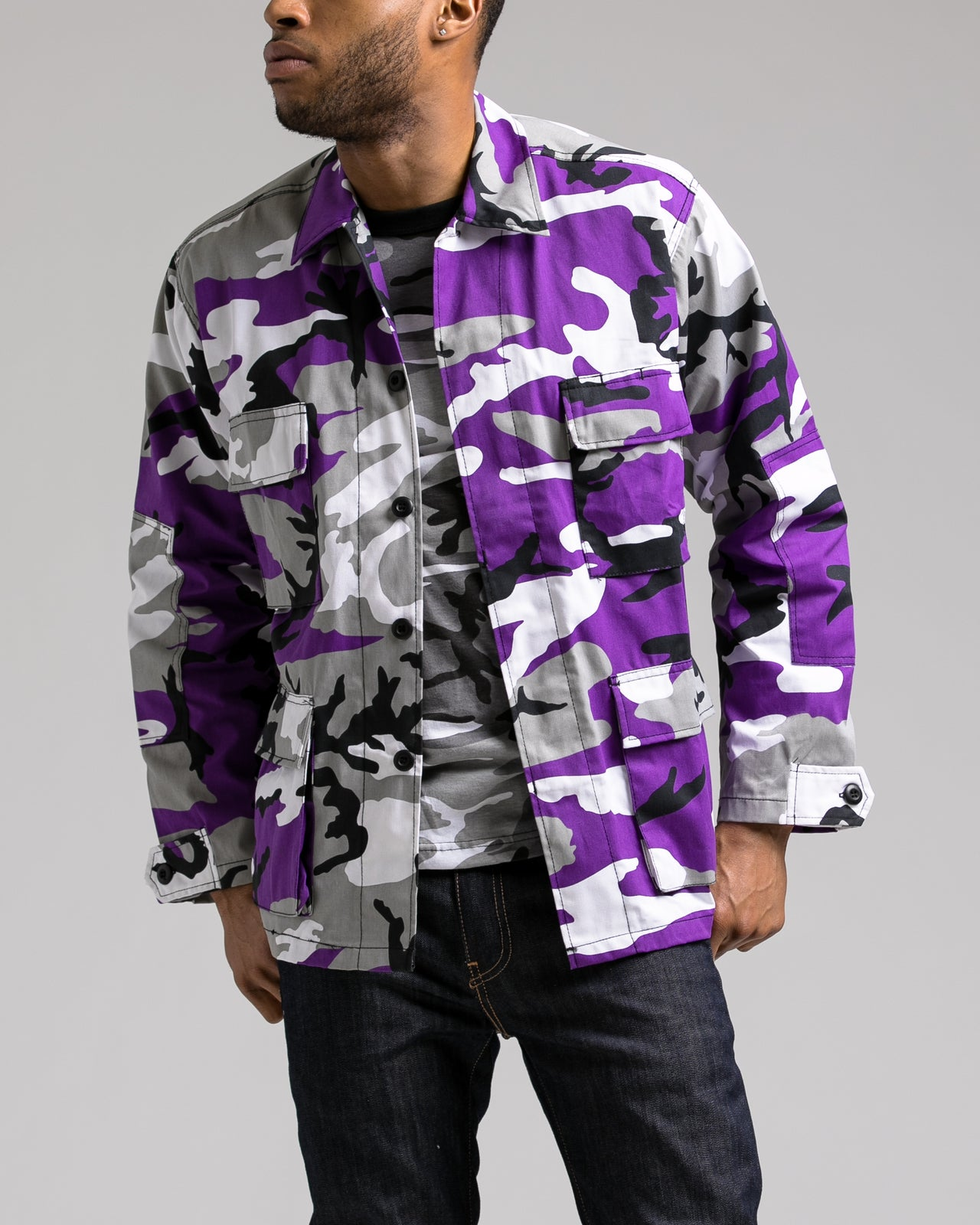 B.D.U. Shirt Jacket - Color: Ultra Violet Camo | Purple