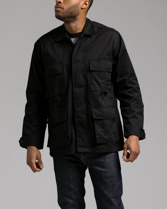 B.D.U. Shirt Jacket - Color: Black | Black