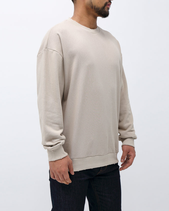 Sweater Crewneck - Color: Beige
